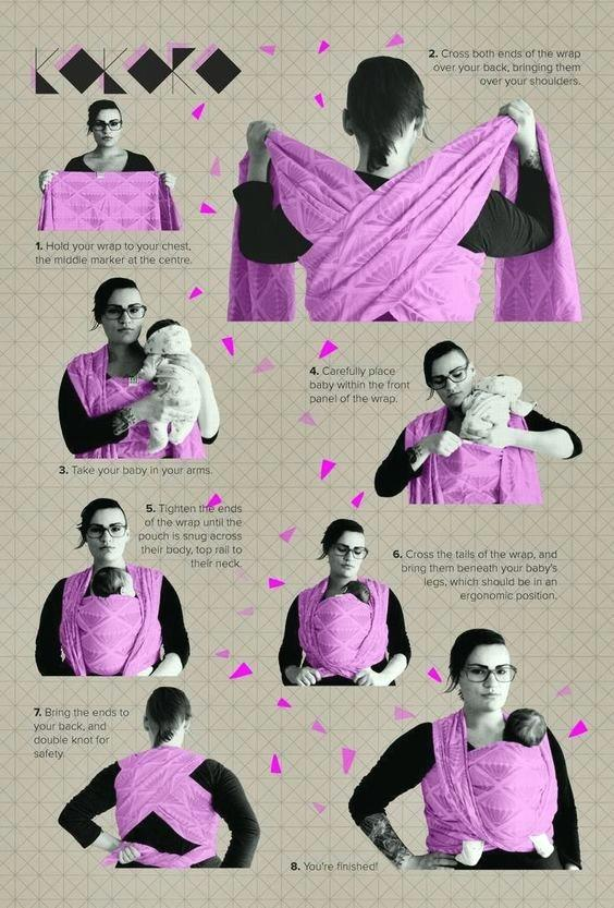how to make a baby sling step by step